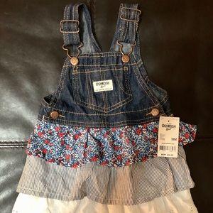Oshkosh Girls Overalls Dress